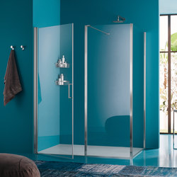 Claire Design Pivot door on fixed element | Shower screens | Inda