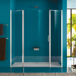 Claire Design Pivot door with two fixed elements | Shower screens | Inda