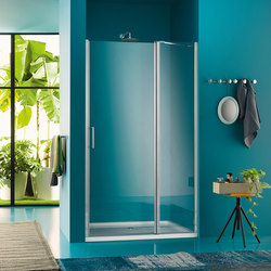 Claire Design Pivot door with fixed element for niche | Shower screens | Inda