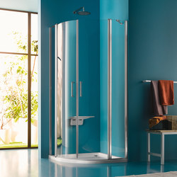 Claire Design Quadrant with two pivot doors | Shower screens | Inda