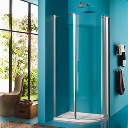 Claire Design Rectangular quadrant with pivot door | Shower screens | Inda