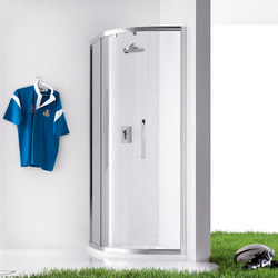 Praia Rectangular quadrant with sliding door | Shower screens | Inda
