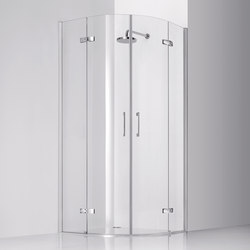 Praia Design Quadrant with two pivot doors and fixed element | Shower screens | Inda