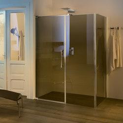 Teknoair Pivot door with fixed element | Shower screens | Inda