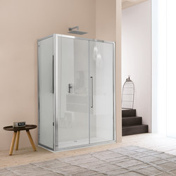 Trendy Design Pivot door with fixed element | Shower screens | Inda