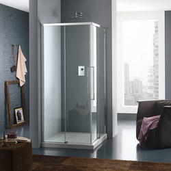 Trendy Design Panel with sliding door | Shower screens | Inda