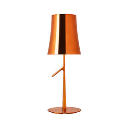 Birdie Metal table big copper | General lighting | Foscarini
