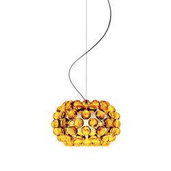 Caboche suspension small yellow-gold | General lighting | Foscarini