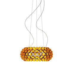 Caboche suspension medium LED yellow-gold | General lighting | Foscarini