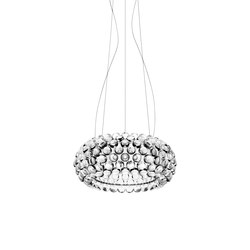 Caboche suspension medium LED transparent | Éclairage général | Foscarini