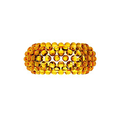 Caboche wall medium yellow-gold | Wall lights | Foscarini