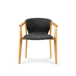 Knit dining armchair | Garden chairs | Ethimo
