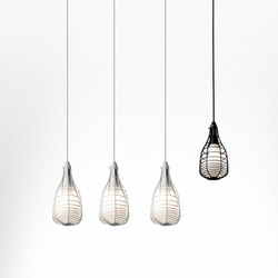 Cage Mic suspension multiple composition | Iluminación general | Diesel by Foscarini