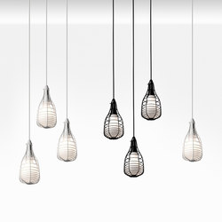 Cage Mic suspension multiple composition | Suspended lights | Diesel with Foscarini