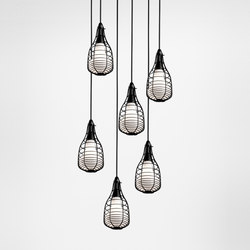 Cage Mic suspension multiple composition | General lighting | Diesel by Foscarini
