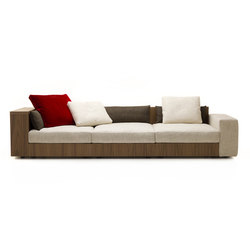 Sofa So Wood | 3-seater sofa | Lounge sofas | Mussi Italy