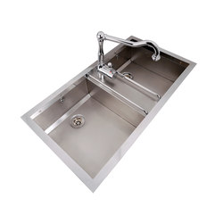 Built-in Double Bowl Sink | Fregaderos de cocina | Officine Gullo