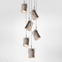 Fork suspension multiple composition | Iluminación general | Diesel by Foscarini