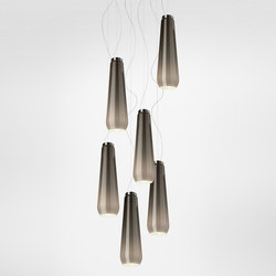 Glass Drop suspension multiple composition | General lighting | Diesel by Foscarini