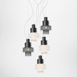 Gask suspension mulitple composition | General lighting | Diesel by Foscarini