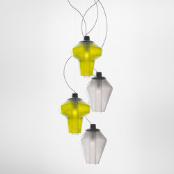 Metal Glass suspension multiple composition | General lighting | Diesel by Foscarini