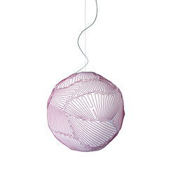 Planet suspension small white/red | General lighting | Foscarini