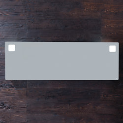 Mirrors with OLED lighting | Miroirs muraux | Falper