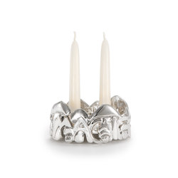 Wolfgang Joop – Magic Mushrooms Candleholder | Portacandele | Wiener Silber Manufactur