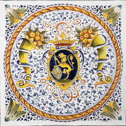Carrelage mural parements decorated tiles officine gullo - Carrelage mural motif ...