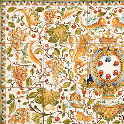 "Decorated Panel ""Cafaggiolo"" 