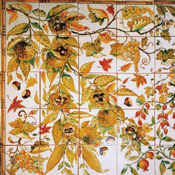 "Decorated Panel ""Autunno Toscano"" 