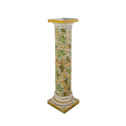 "Decorated Column ""Cafaggiolo"" 