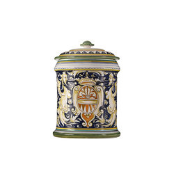Decorated Majolica Jar | Storage boxes | Officine Gullo
