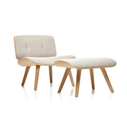 Nut Lounge Chair With Footstool | Armchairs | moooi