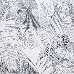 Jungle | Black | Wall coverings / wallpapers | Petite Friture