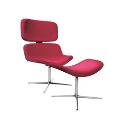 W-Lounge Chair 3 with stool | Sillones lounge | Wagner