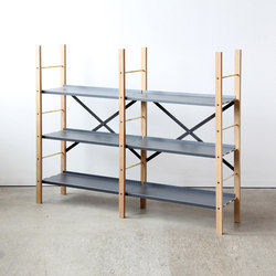 Croquet Freestanding Shelving 3 Shelf | Office shelving systems | VG&P