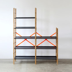 Croquet Freestanding Shelving 5 Shelf | Office shelving systems | VG&P
