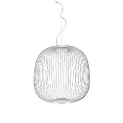 Spokes 2 suspension white | General lighting | Foscarini
