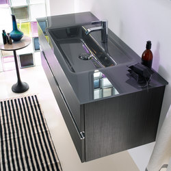 Bel | Glass washbasin incl. vanity unit | Vanity units | burgbad