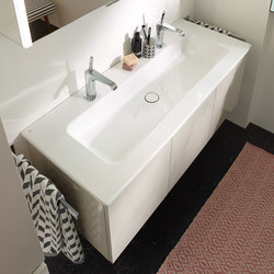 Bel | Ceramic washbasin incl. vanity unit | Vanity units | burgbad