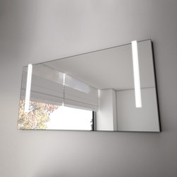 Bel | Illuminated mirror with vertical LED-light | Specchi da parete | burgbad