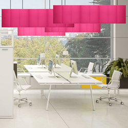 ECOdesk baffles | Sound absorbing ceiling systems | Slalom