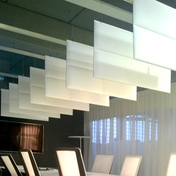 ECOstrong baffles | Sound absorbing suspended panels | Slalom