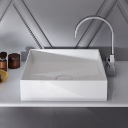 Crono | Mineral cast washbasin sit on vessel | Wash basins | burgbad