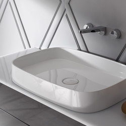 Crono | Mineral cast washbasin sit on vessel | Lavabi / Lavandini | burgbad