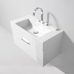 Crono | Mineral cast washbasin incl. vanity unit | Vanity units | burgbad