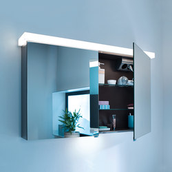 Essento | Mirror cabinet incl. LED lighting of washbasin | Wall cabinets | burgbad