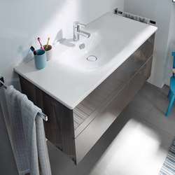 Essento | Ceramic washbasin incl. vanity unit | Vanity units | burgbad