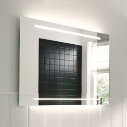 Essento | Mirror with horizontal LED-light | Wall mirrors | burgbad
